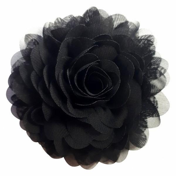 Black chiffon corsage